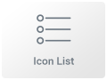 Icon List Widget
