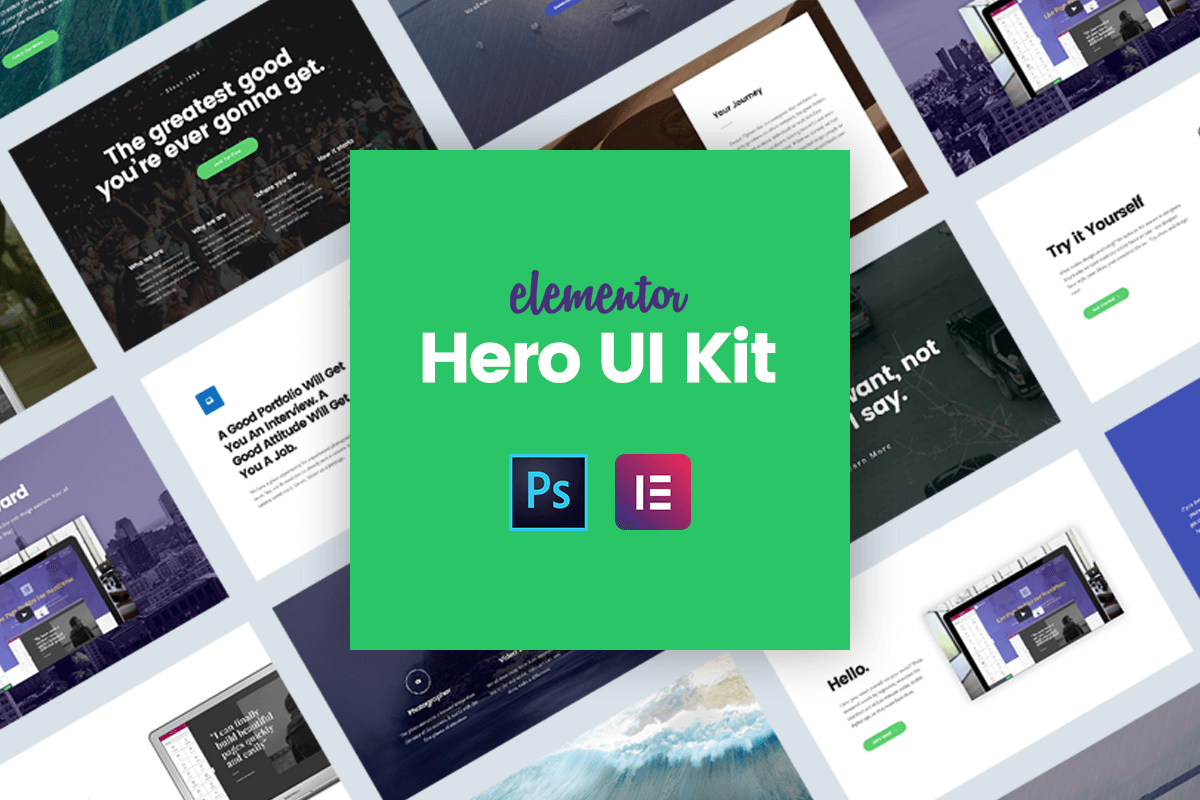 12 Hero Image & Header Examples In Elementor [Free Download]