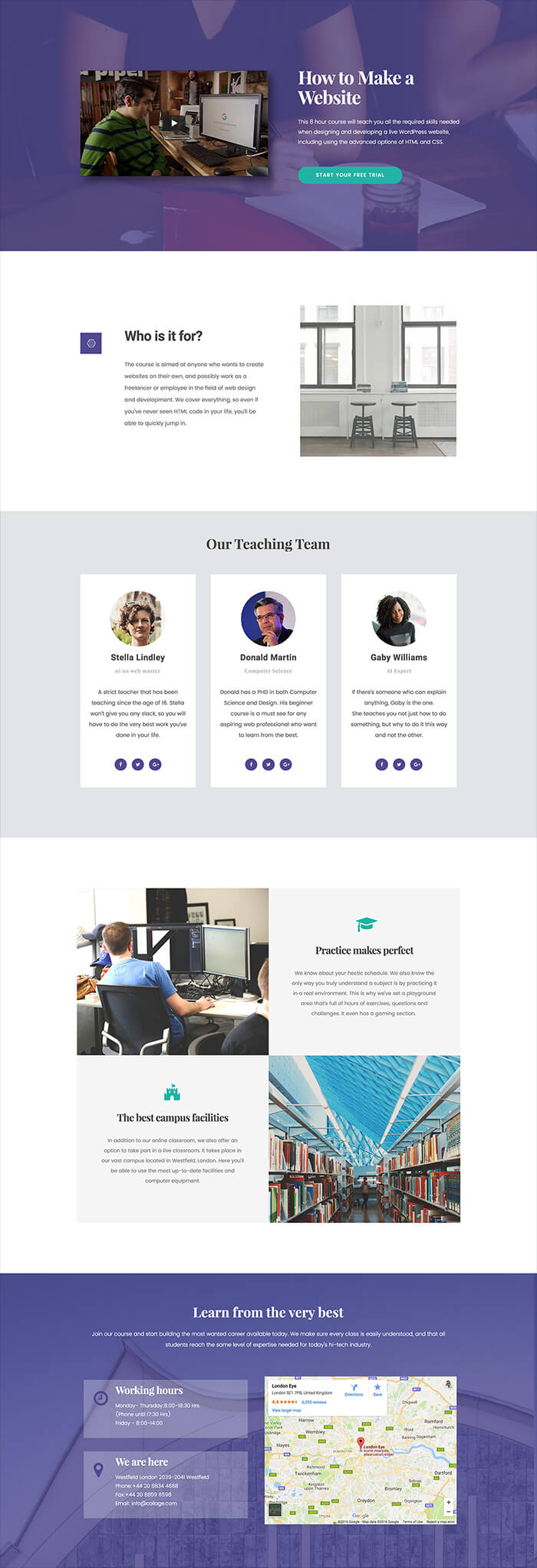 5 Brand New FREE Elementor Homepage Templates