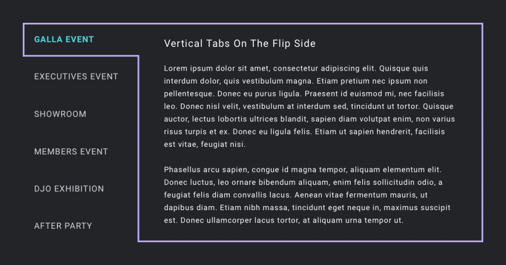 vertical tabs