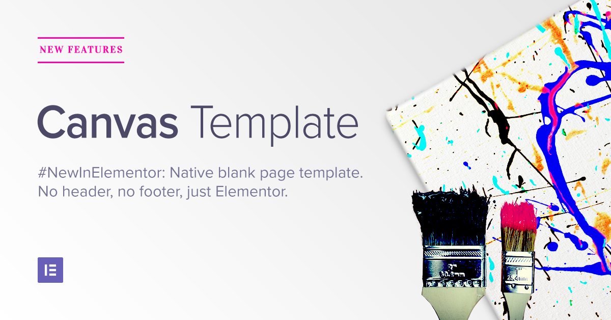 introducing canvas native blank page template elementor