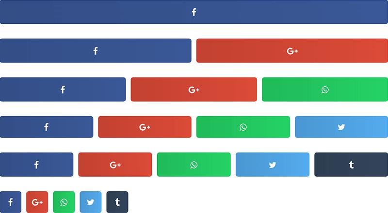 Share buttons columns