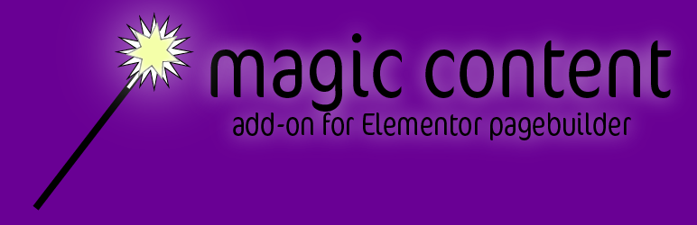 Add-ons for Elementor: Magic Content