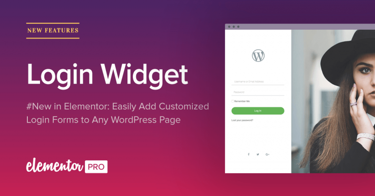 elementor-login-widget