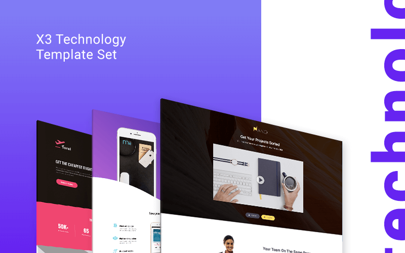 technology Landing Page templates