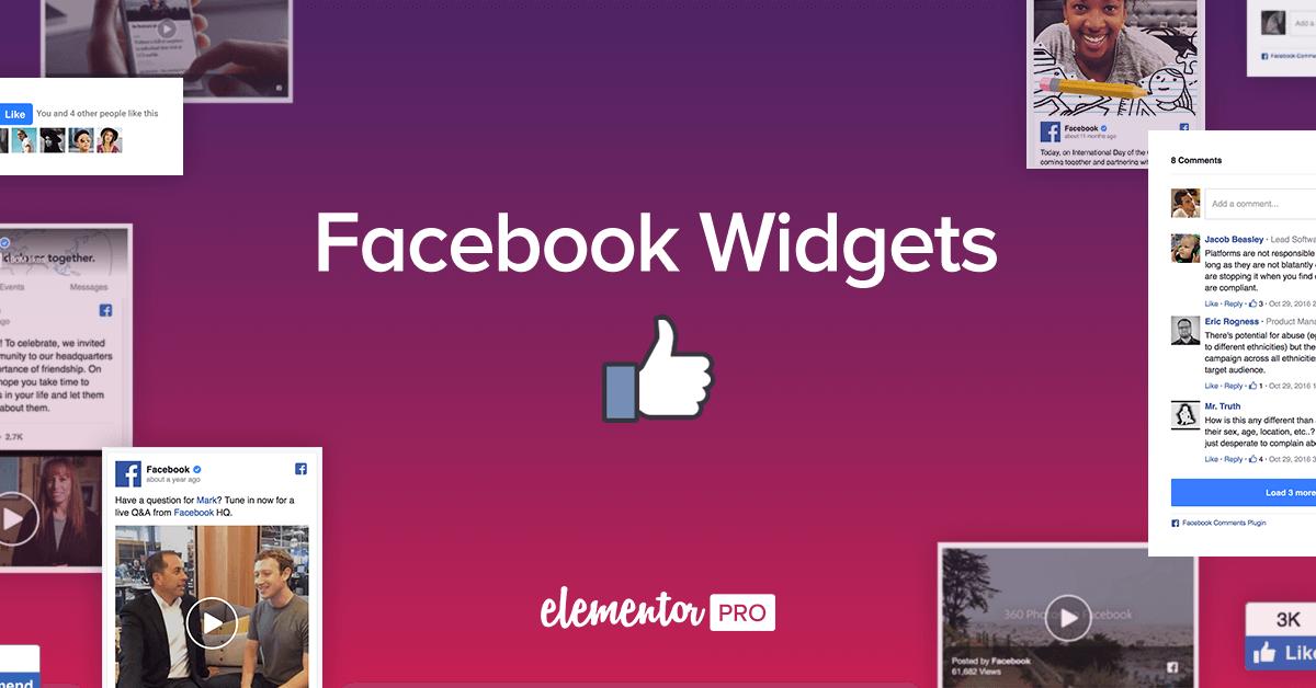 how to add facebook widget