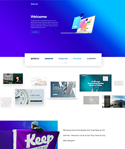 Product landing page template with logo slider