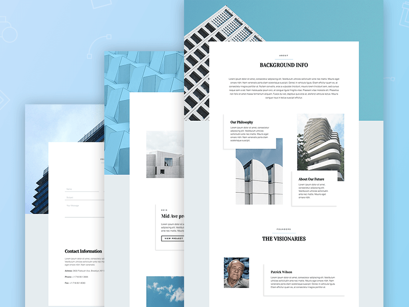 New Templates The Professional Architect Website Template Set - Information website template