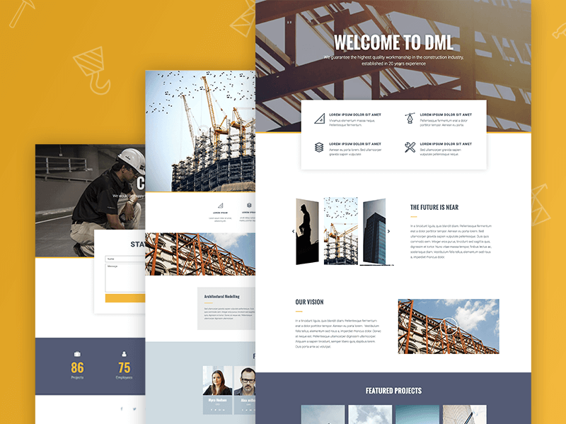 new templates premium construction company template set
