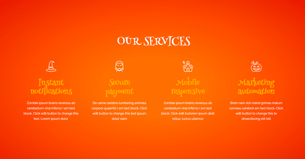 Halloween Services Design