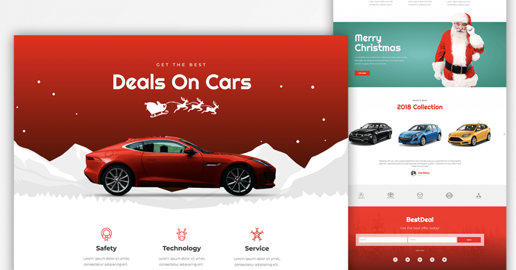 Christmas Page Templates - Car Dealer