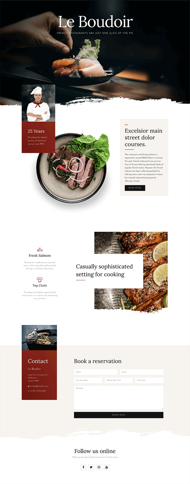 Download The Premium Restaurant Template Set For Wordpress