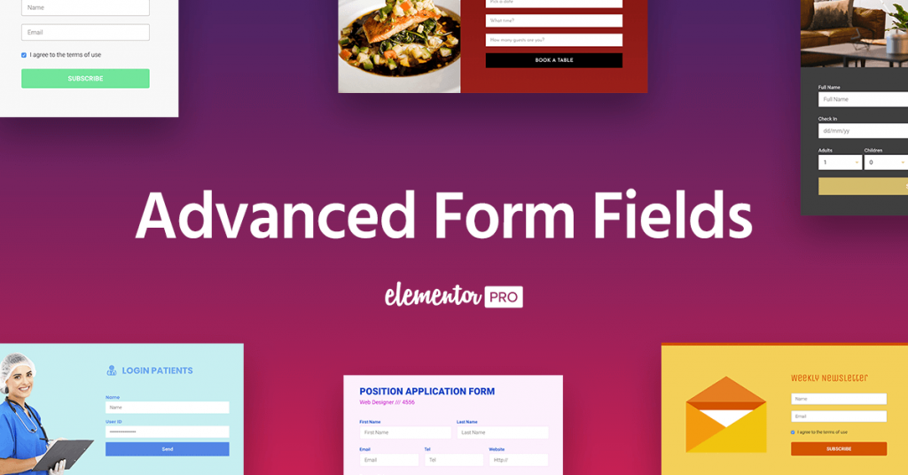 Advanced Form Fields File Upload Date Password More