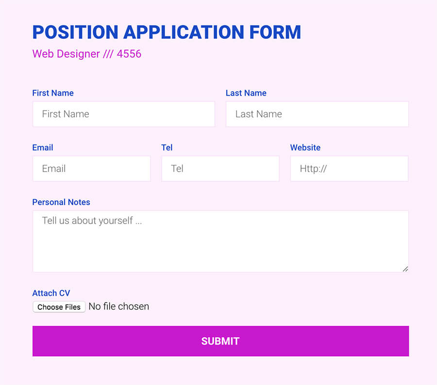 Form file upload field