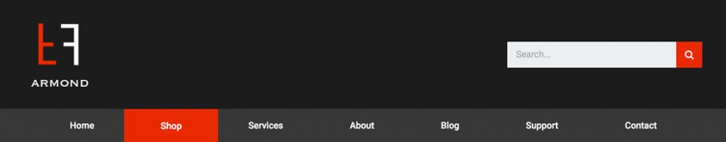 WordPress header template