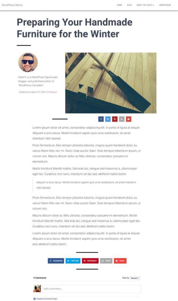 طراحی قالب پست وبلاگ با المنتور