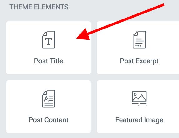 Post title settings