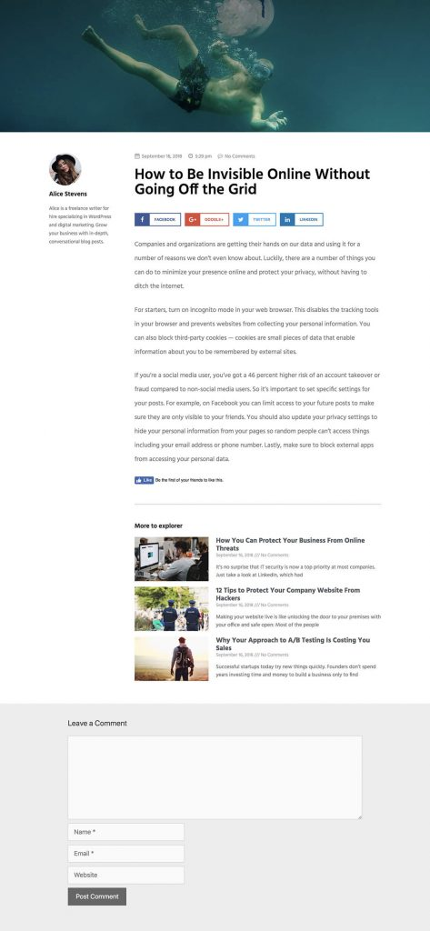 5 Brand New Wordpress Single Post Templates Elementor