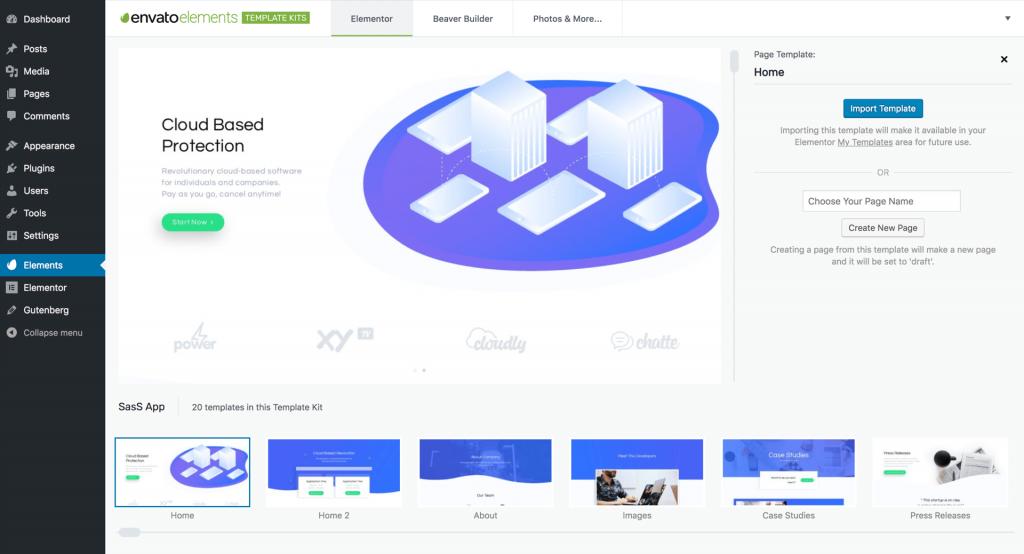 Envato Elements: Elementor Website & Landing Page Templates