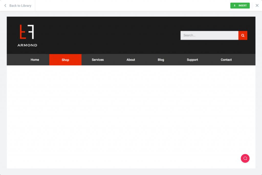 a screenshot of the chosen header