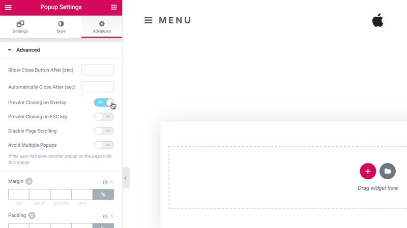 Create a Responsive Menu in WordPress Using Popups - Elementor