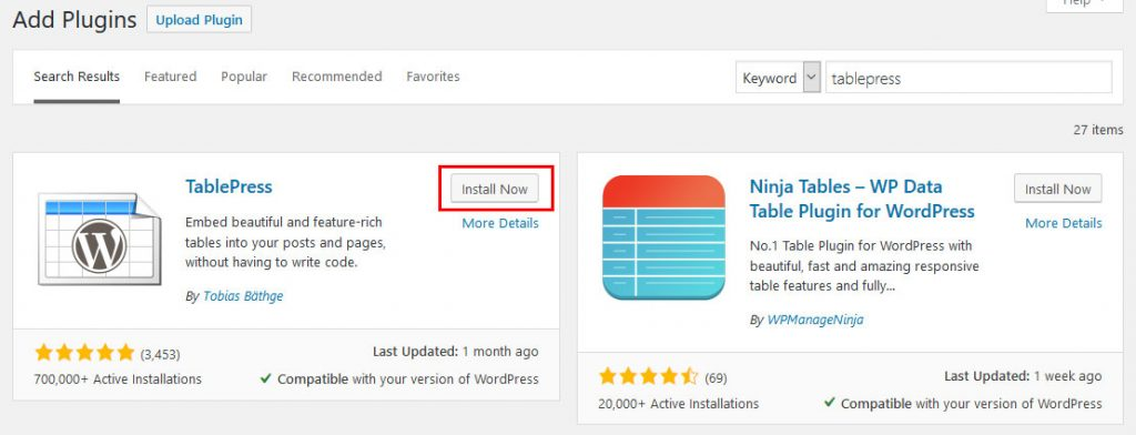How to Create Tables in WordPress With Elementor & TablePress