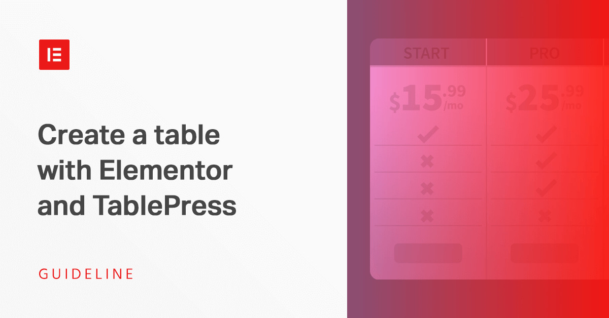 How to Create Tables in WordPress With Elementor and