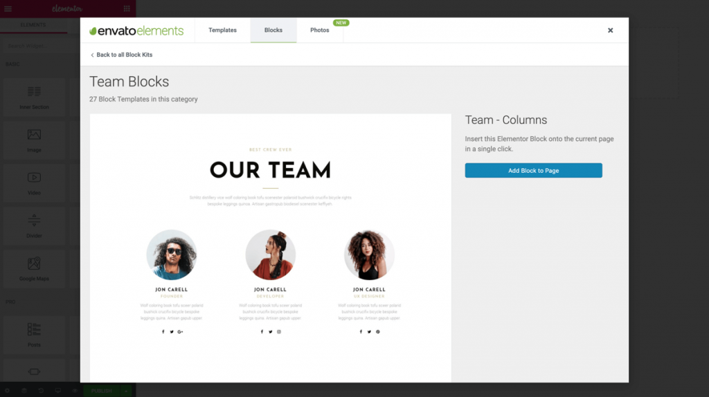 Envato Launches Elements: The Biggest FREE Elementor Template