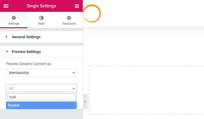 elementor membership settings