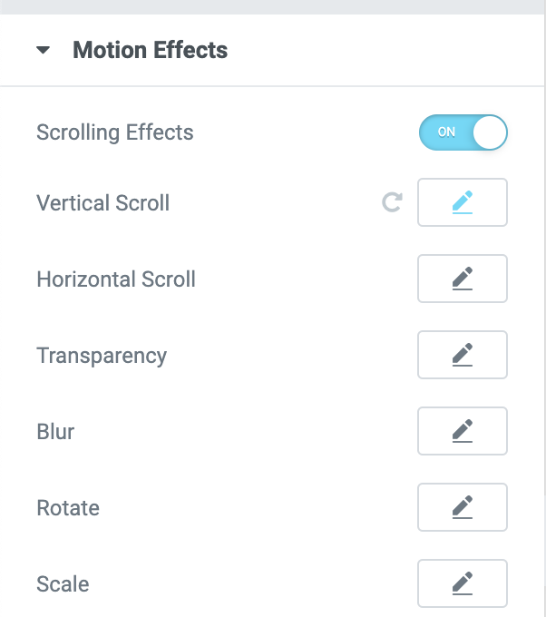 Step 2: Under Motion Effect, Switch to Scrolling Effect​