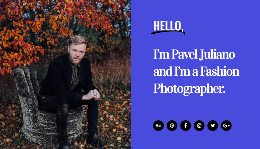 Fashion Photographer Template