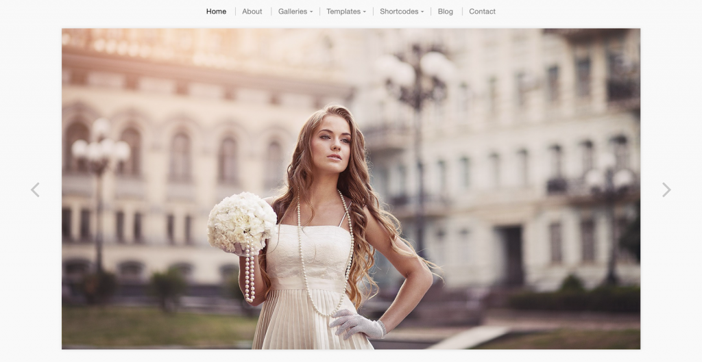 3. Photographer Wedding Template​