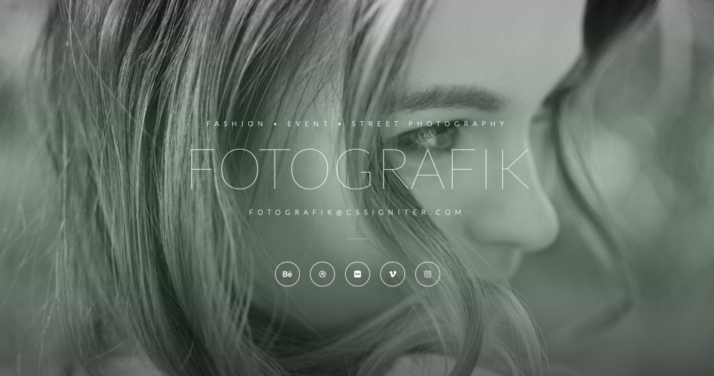 4. Fotographik Wedding Template (for Photographers)​