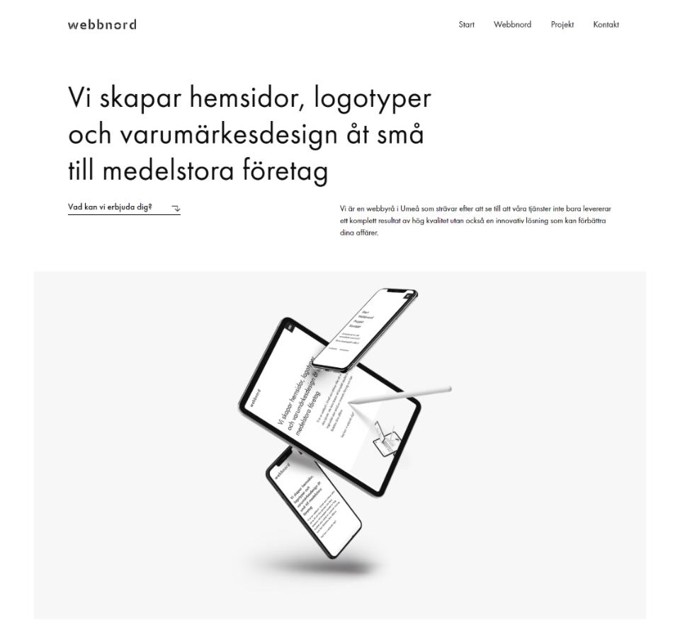 Minimalist web design elementor wordpress webnoord