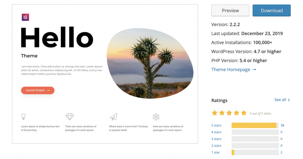 hello-lightweight-theme-elementor-speed-wordpress