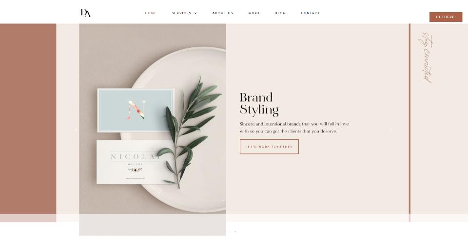 Minimalist color web design elementor wordpress digital artisans