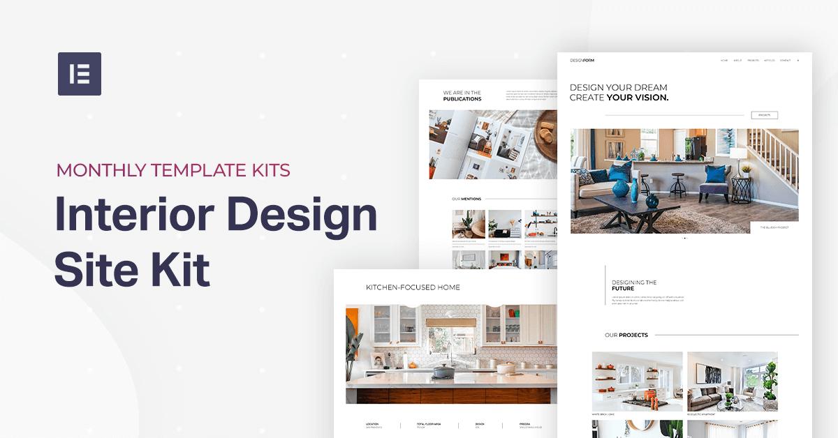Monthly Template Kits 8 The Interior Design Template Kit Elementor,Modern Tri Fold Brochure Design Ideas