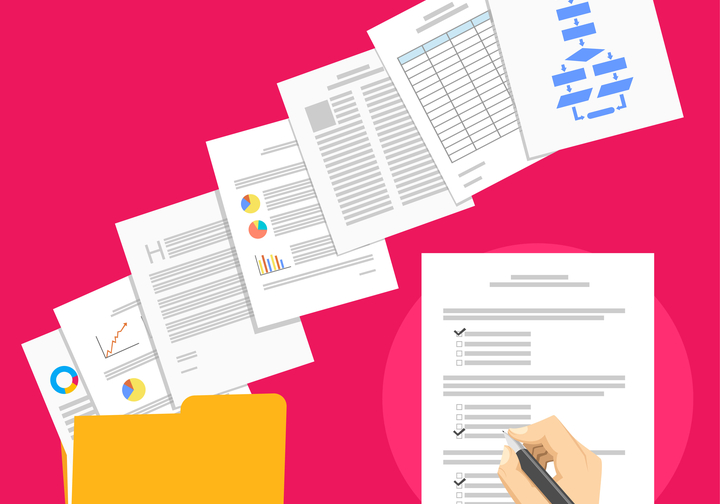 business paperwork image