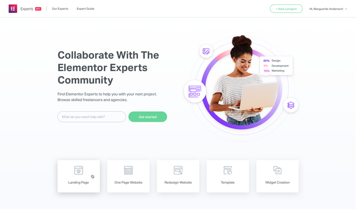 Elementor Experts Homepage