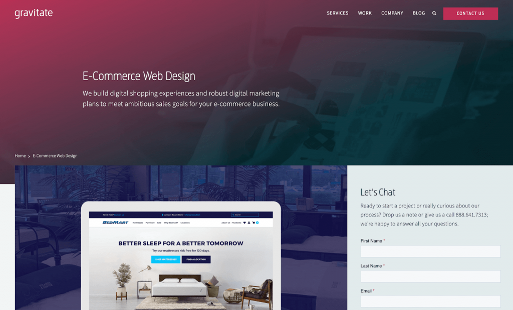 ecommerce design niche