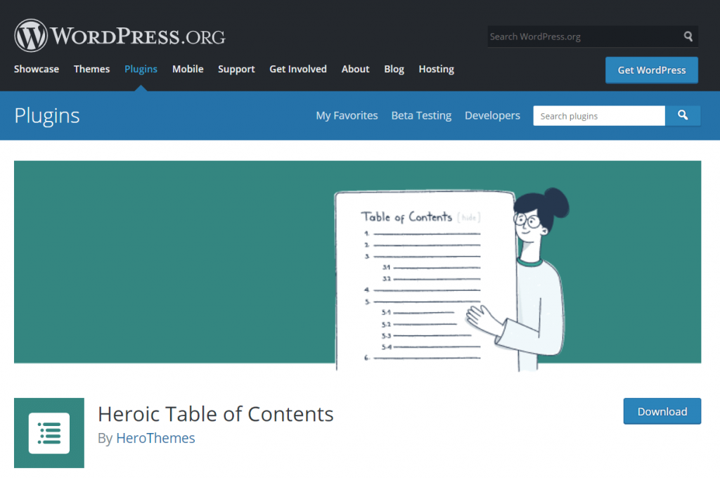 Heroic Table of Contents