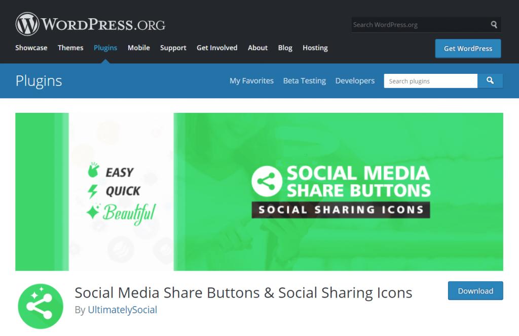 Ultimate Social media sharing buttons