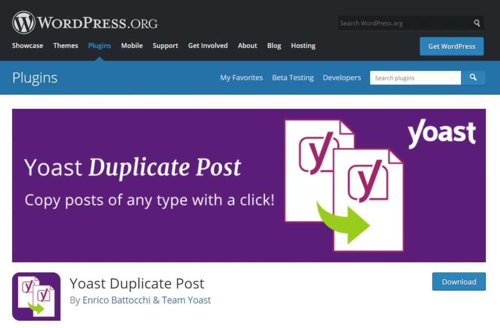 Yoast Duplicate Post