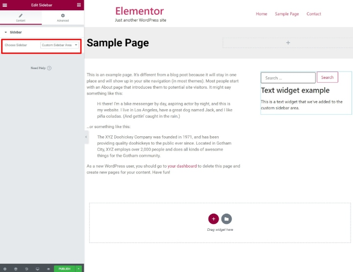 custom-wordpress-sidebar-5-add-sidebar-widget-in-elementor