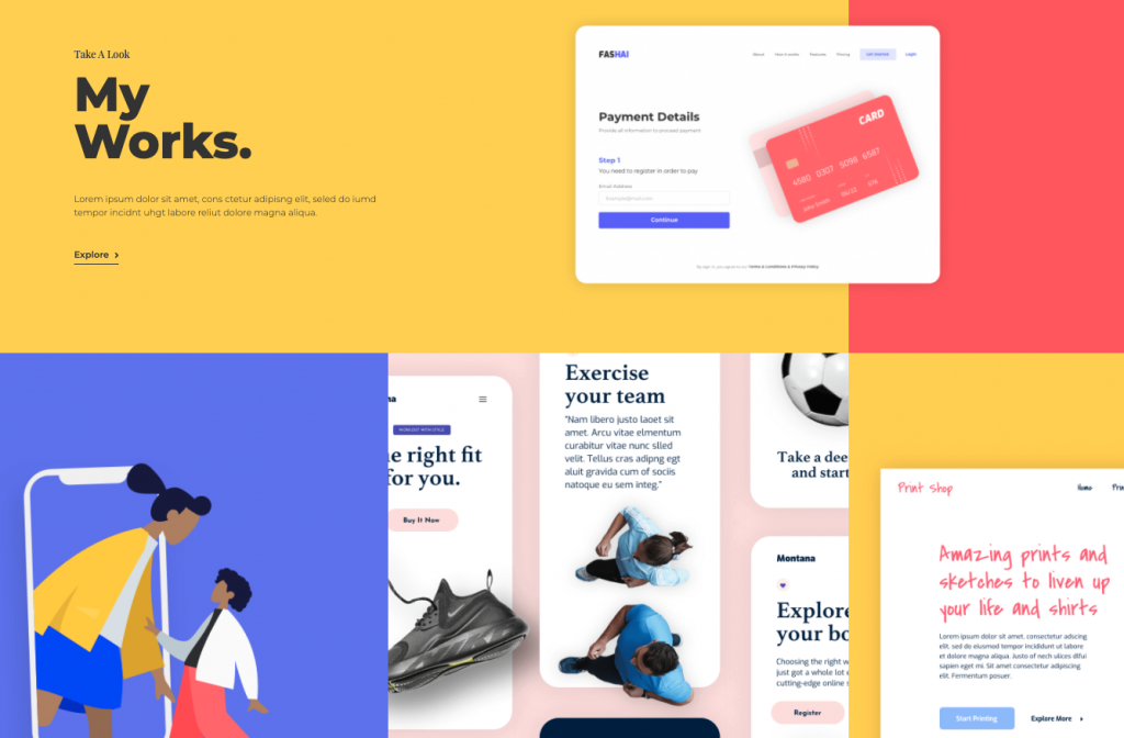 portfolio works page