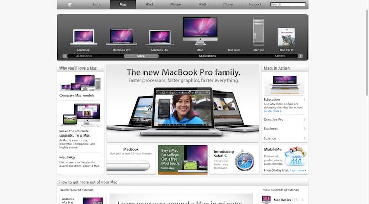 apple-website-2010-skeuomorphism