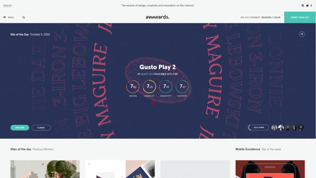 Ideas de diseño web: grandes lugares para buscar inspiración 3 Web design