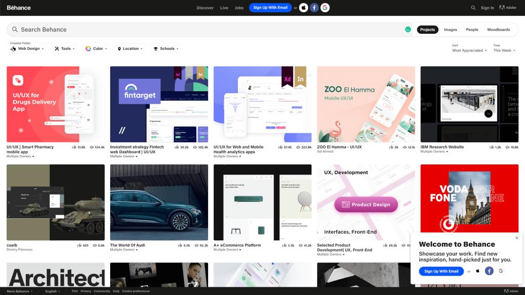 Ideas de diseño web: grandes lugares para buscar inspiración 2 Web design