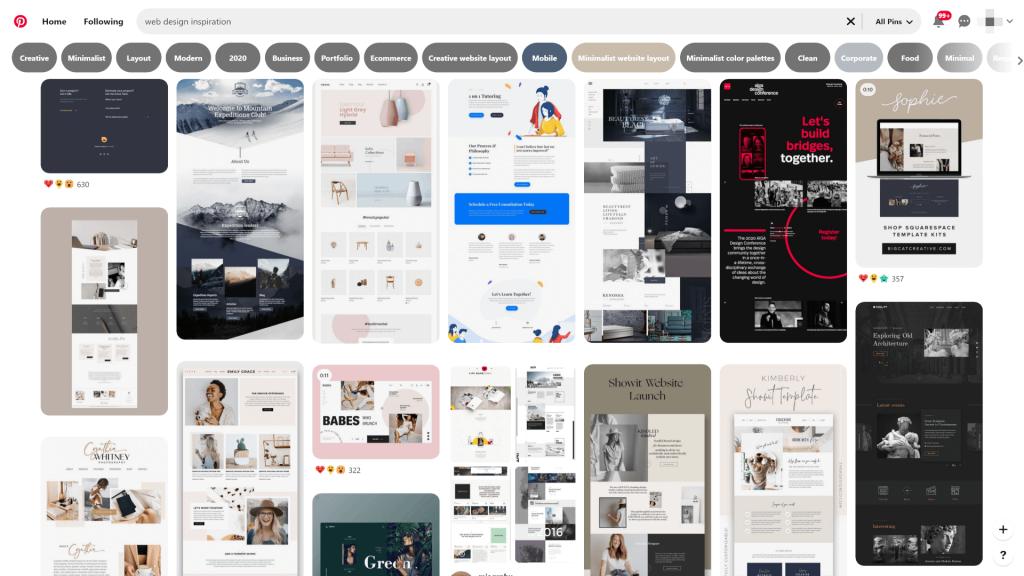 Ideas de diseño web: grandes lugares para buscar inspiración 5 Web design