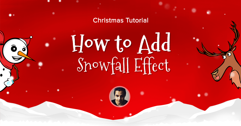 How to Create a Christmas Snow Effect in Elementor